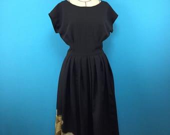 Kimono dress - french sleeve - vintage silk - size 6-8