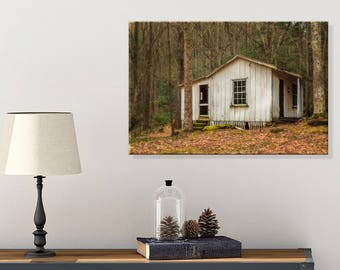 Country Cottage Decor - Smoky Mountains - Tennessee - Architectural Wall Decor - Rustic Living Room Wall Decor - Abandoned Photography