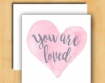 Love Card | Card for Her | Card for Girlfriend | Card for Friend | Card for Best Friend | Watercolor Art Card | Sending Love Card
