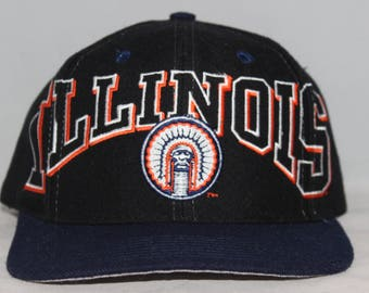 Vintage University of Illinois Fighting Illini Snapback Hat