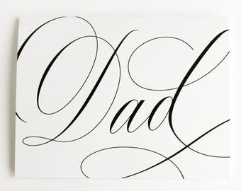 Dad - Father's Day Calligraphy Greeting Card
