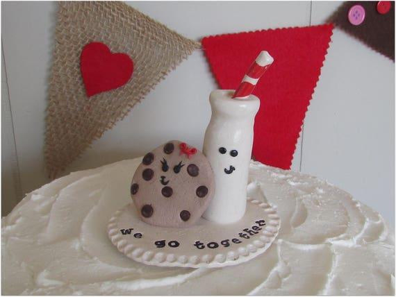 Cookies Milk Wedding Cake Topper And We Go