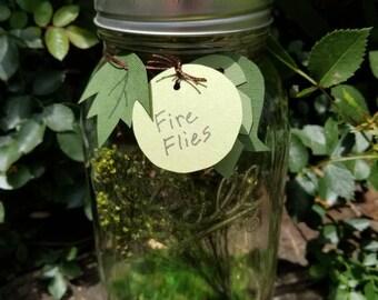Handmade Firefly/Lightning Bug Jar Children's Nature Garden Decor