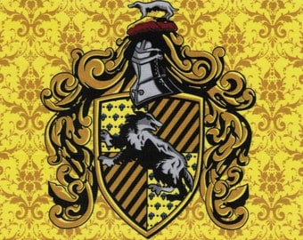 NEW Hufflepuff Crest: Harry Potter fabric print