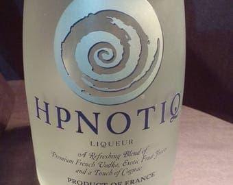 Liquor bottle glass