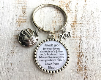 FATHER-of-the-Groom gift from Bride Father-in-Law Gift Father-in-Law Wedding gift for Father-of-Groom Gift Father-of-the-Groom Keychain Key