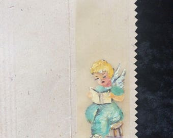 Hand Painted Bookmark On Silk
