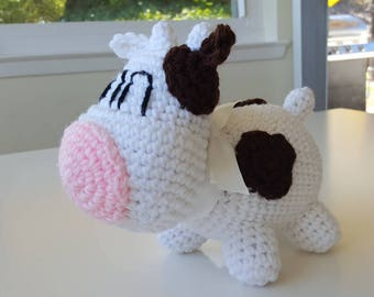 SNES Harvest Moon Inspired Crocheted Cow