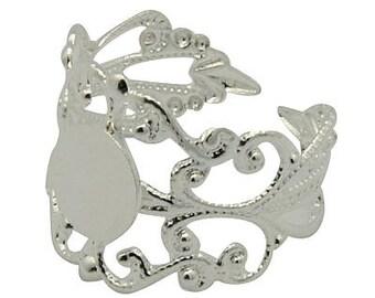 1 x ring adjustable filigree silver