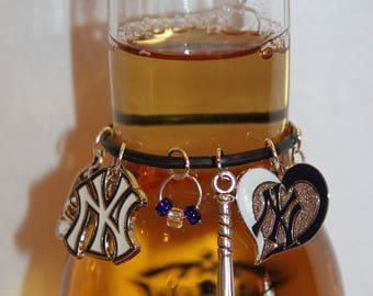 New York Yankees Beer Bottle Charm NY Yankees Bottle Marker