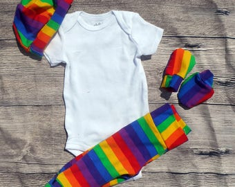 Rainbow Baby Themed Going Home Outfit