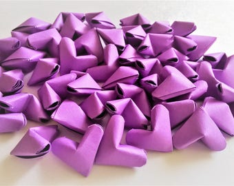 50 Purple Origami Hearts