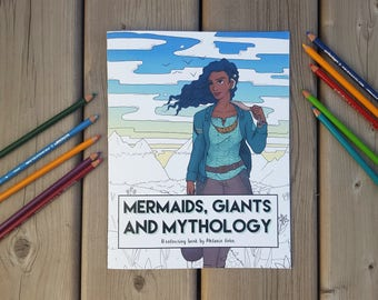 Mermaids, Giants and Mythology Colouring Book