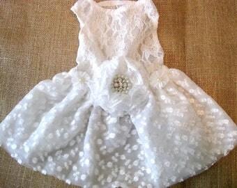 Wedding dog dress | Flower Dog Dress | White wedding | The Farah | white dog dress | dog clothes XS-XXXL