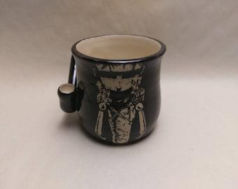 "WAKE and BAKE Pipe MUG - Jthm Inspired ""Nny"" - Handmade Ceramic #838"