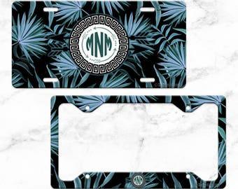 DARK PALMS - Tropical License Plate Design