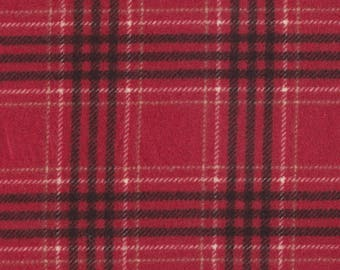 Maywood Studio Quilt Fabric - Woolies Flannel Series - Red Plaid - Four Yards
