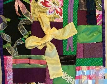 Fidget Quilt / Sensory Blanket - Yellow Ribbon