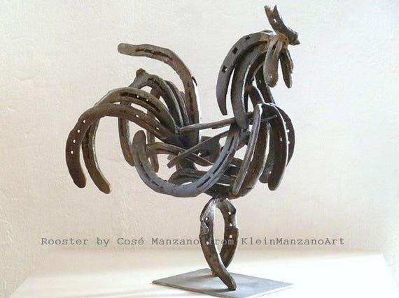 Souvent Sculpture en métal coq art contemporain sculpture CI91