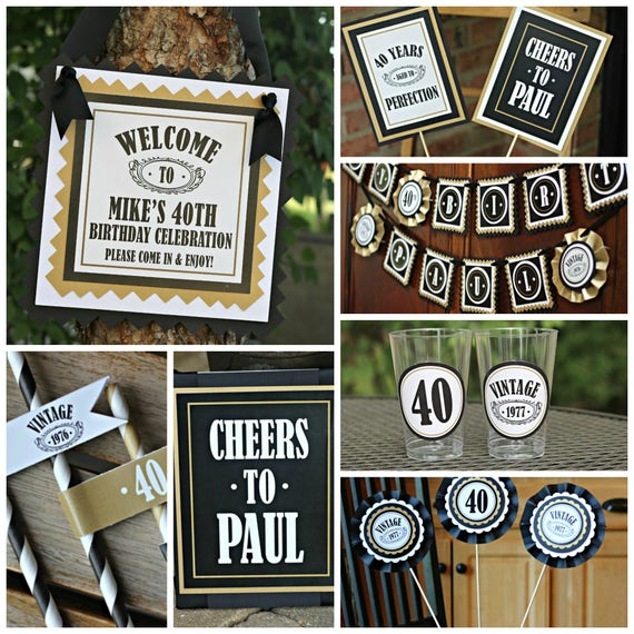 40th Birthday Party Idea For A Man: 40TH BIRTHDAY PARTY Decorations 40th Party Banner 40th Party