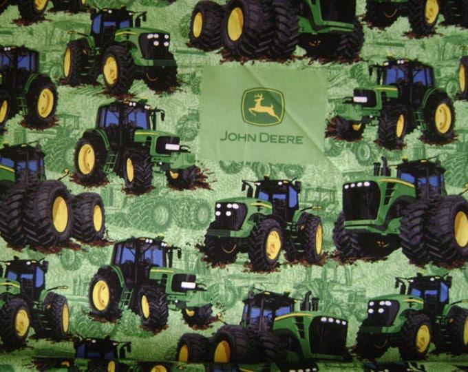 John Deere Tractor Flip Cotton Fabric 1/2 Yard Cut New