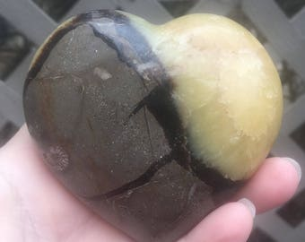 3.25 Inch Septarian Heart-Dragon Stone