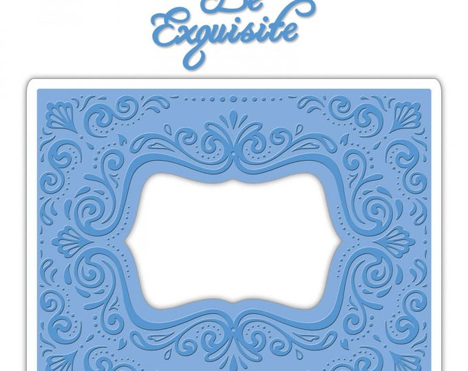 New! Sizzix Impresslits Cut & Emboss Embossing Folder - Aquarius Frame 661952