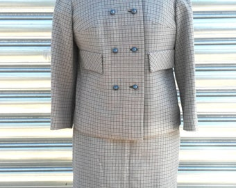 Tailleur in pure wool vintage made in italy size S, 1940s