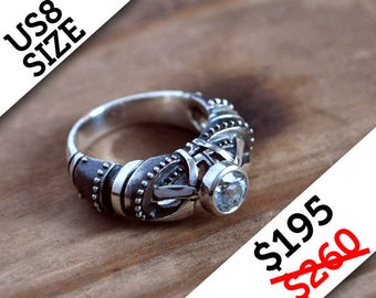"SALE!!! Sterling Silver Ring ""Regrediendum"" 