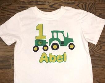John Deere birthday tshirt