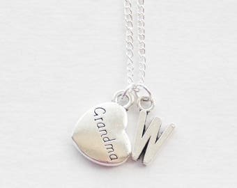 Grandma Necklace, Gift for Grandma, New Grandma Gift, Grandma Jewelry, Personalized necklace for Grandma, Custom Initial Necklace