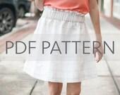 Sadie Skirt PDF, girl skirt pdf, skirt pdf, sewing pdf, skirt sewing pattern, easy PDF, sewing patterns, toddler patterns, tween pdf