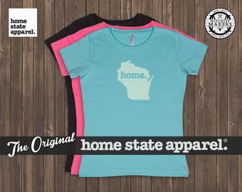 Wisconsin Home. T-shirt- Women's Relaxed Fit