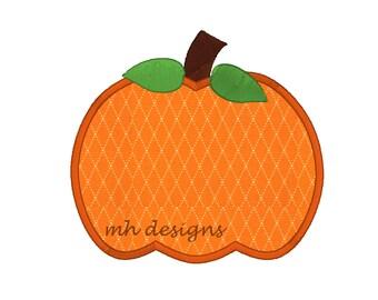 Simple Pumpkin applique embroidery design (4 sizes), Fall pumpkin embroidery file, Pumpkin design, Pumpkin embroidery design, Applique'