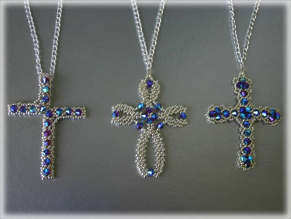 3Cross pendants beading TUTORIAL