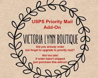 USPS PRIORITY MAIL Upgrade - Contact me prior to purchasing
