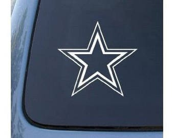 "Double Outline STAR 13"" Large Vinyl Decal Window Sticker for Car, Truck, Motorcycle, Laptop, Ipad, Window, Wall, ETC"