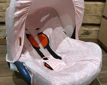 Custom made baby girl car seat cover+sunshade, Chick car seat cover,