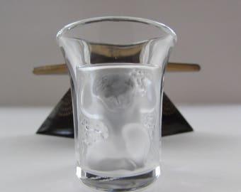 Lalique Les Enfants Cherub Shot Glass, Lalique Cherub Shot Glass, Vintage Lalique Les Enfants Shot Glass, Lalique Shot Glass, Shot Glasses