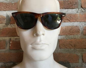 brown wayfarer, original vintage ray-ban wayfarer, U.S.A original 1960, Bl5022, gentle used