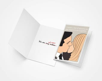 The Office, Michael Scott and Holly Flax Soul Mates Printed Card, Valentine's Day Gift