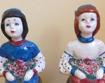 1930's Marshall Field & Company Little Flowers By Barbara Eagen Book Ends