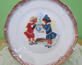 """Vintage Buster Brown Porcelain 6"""" Plate - Advertising - Free Shipping"""