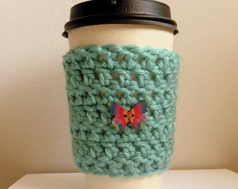 Take Out Coffee Cup Sleeve Take Out Coffee Cup Cozy Crocheted Take Out Coffee Cup Sleeve Cozy Blue Coffee Cup Sleeve