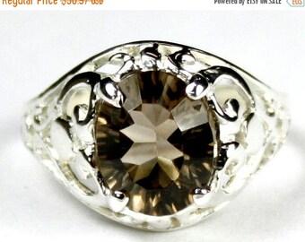 On Sale, 30% Off, Smoky Quartz, 925 Sterling Silver Ring, SR004