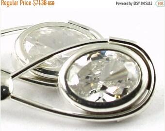On Sale, 30% Off, Cubic Zirconia (CZ), 925 Sterling Silver Leverback Earrings, SE008