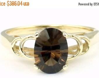 On Sale, 30% Off, Smoky Quartz, 14KY Gold Ring, R300