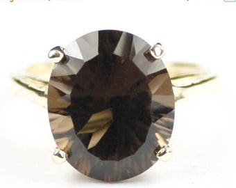 On Sale, 30% Off, Smoky Quartz, 18Ky Gold Ring, R055