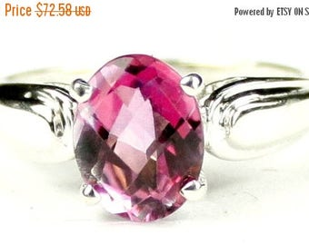 On Sale, 30% Off, Pure Pink Topaz, 925 Sterling Silver Ring, SR058