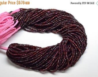 40%DIS Lowest Price AA 13 Inch 3mm Natural Red Mozambique Garnet Faceted Rondelle Beads Strand
